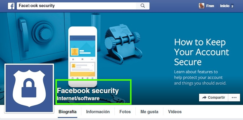 Facebook Security Falsa - Fran Bravo - Gestión presencia internet - Social media - community manager - blog - blogs- blogger - villena - alicante
