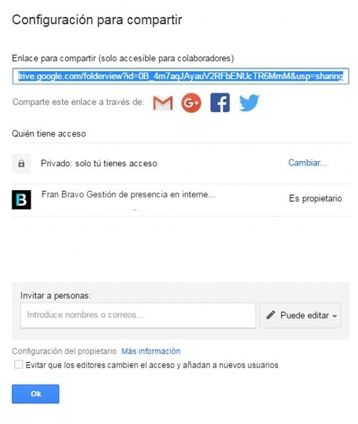 Videos en Google Drive - Fran Bravo Gestion presencia internet - Social Media - Community Manager - Blogs - Blogger - Villena - Alicante