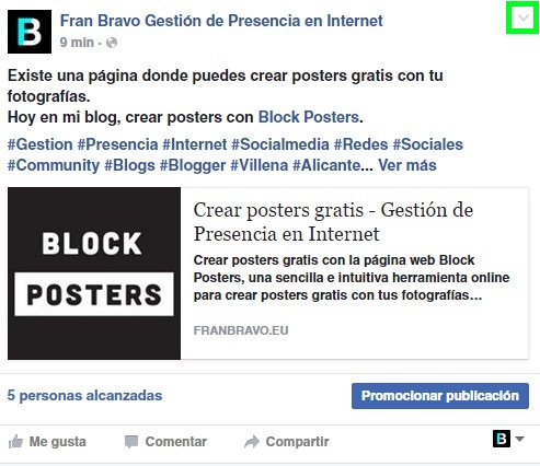 Enlace de Facebook Julio 2016 fran bravo gestión de presencia en internet social media redes sociales community manager blog blogs blogger villena alicante